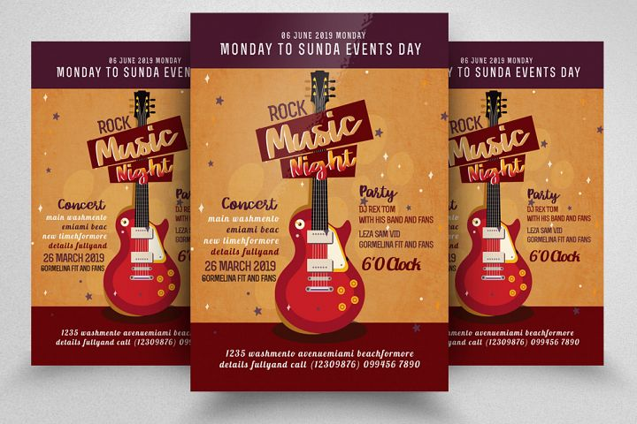 Music Night Show Flyer Template