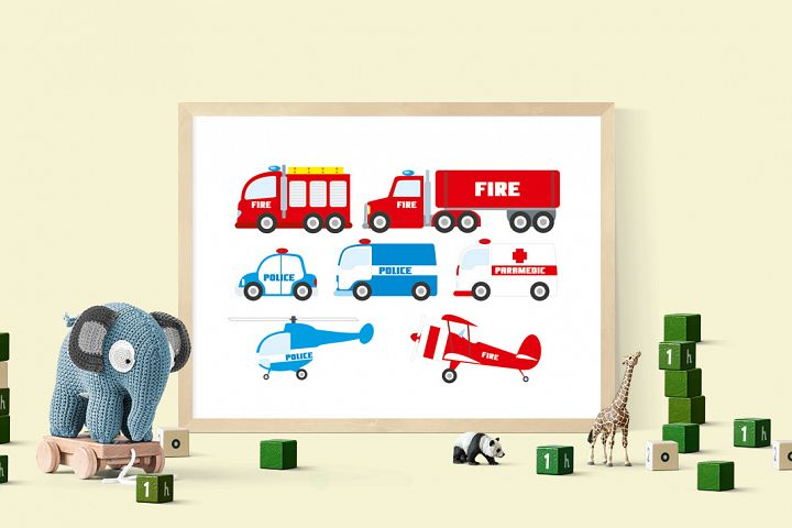 Rescue clipart emergency clipart set police car clipart, fire truck, police helicopter, fire brigade, fire engine download, ambulance