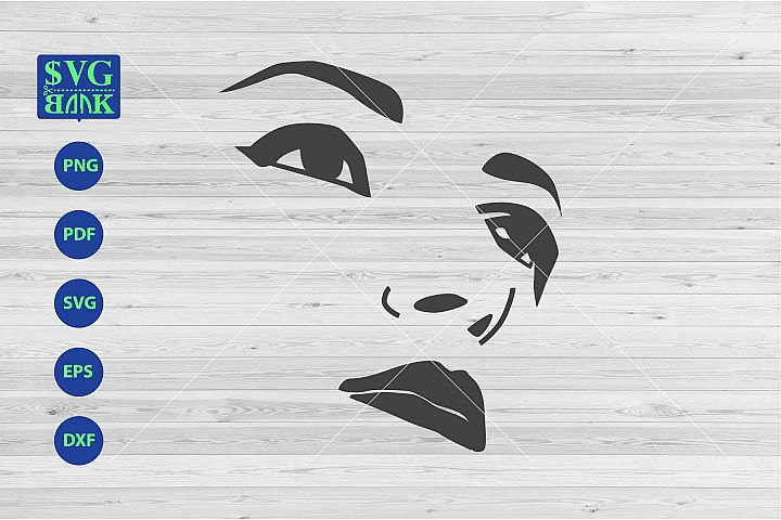 Eyes Svg, Face svg, woman face silhouette
