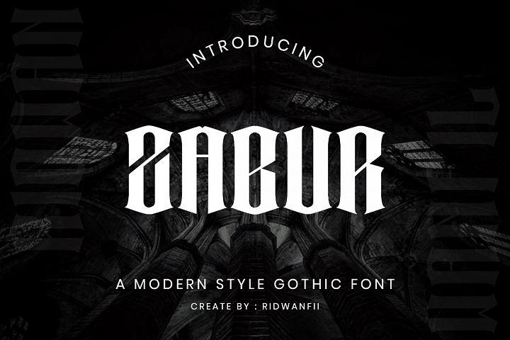 Zabur font - Modern Gothic Style