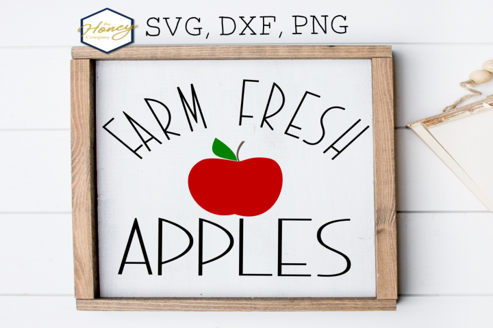 Farm Fresh Apples SVG PNG DXF Halloween Harvest Fall