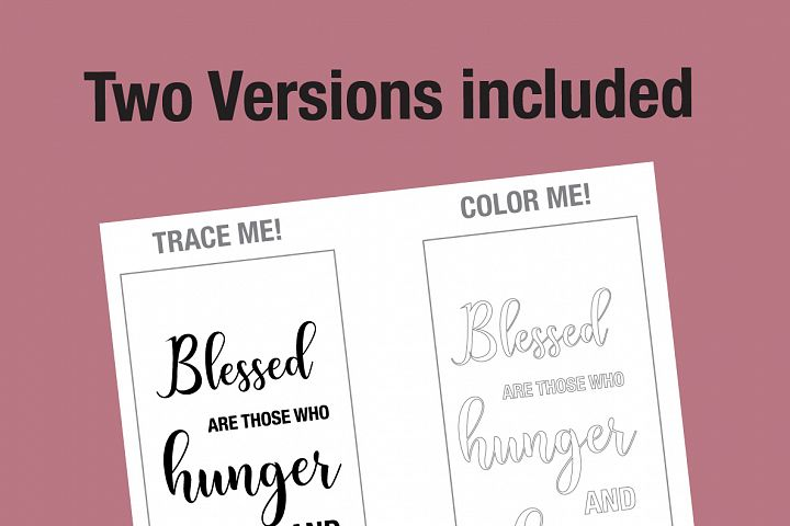 Beatitudes Bible Verse Coloring page
