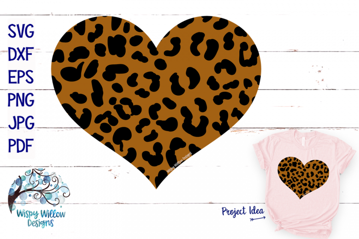 Leopard Heart SVG | Leopard Print Valentines Day SVG