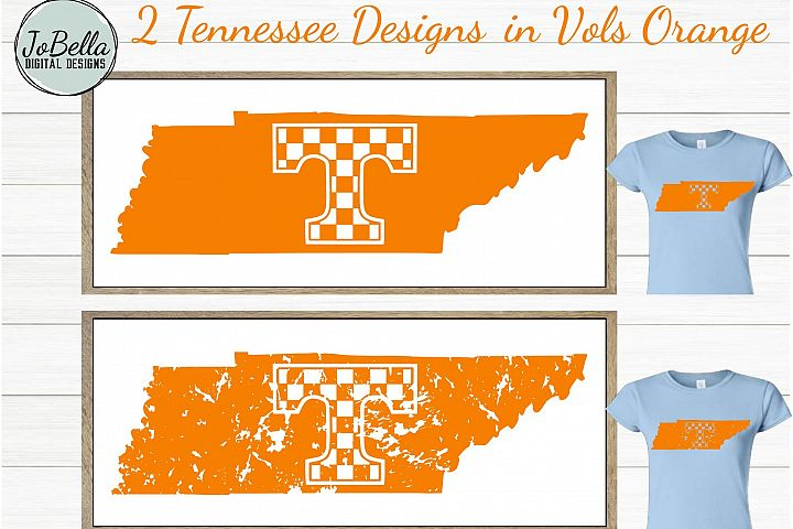 Tennessee with Checkered T SVG and Printable Design Bundle