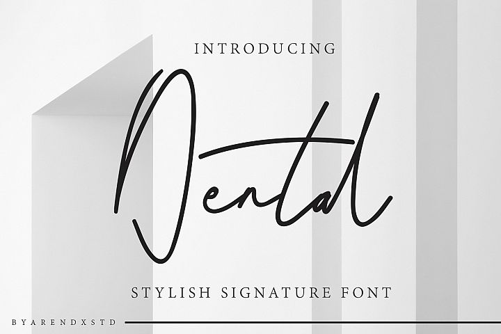 Dental Signatures Font