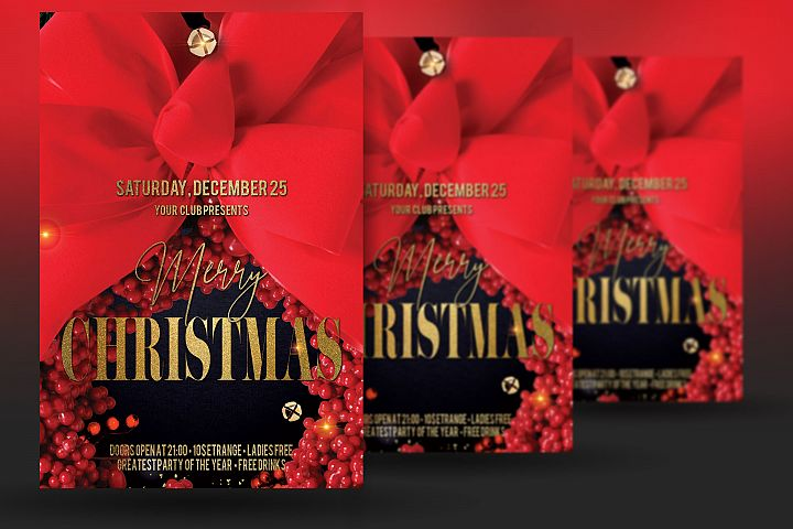 Christmas New Year Party Flyer example image 2