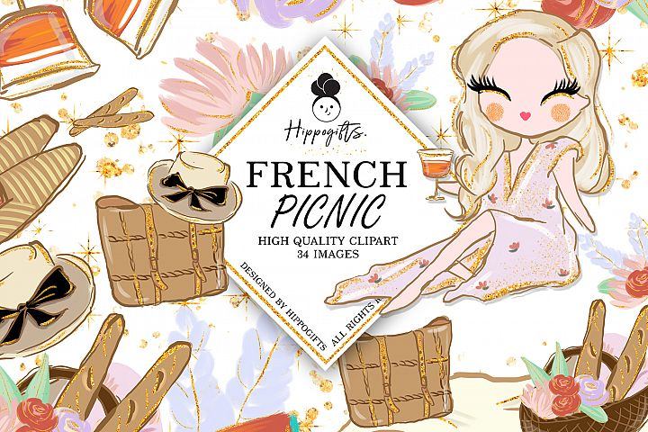 Picnic Clipart Spring Collection