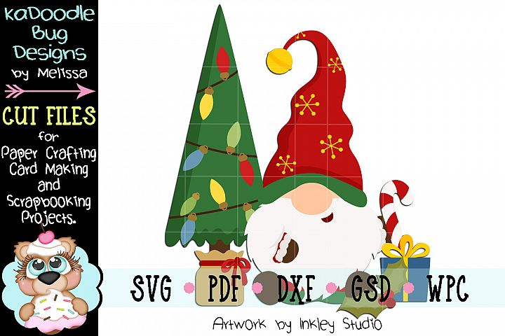 Christmas Presents Gnome Cut File - SVG PDF DXF GSD WPC