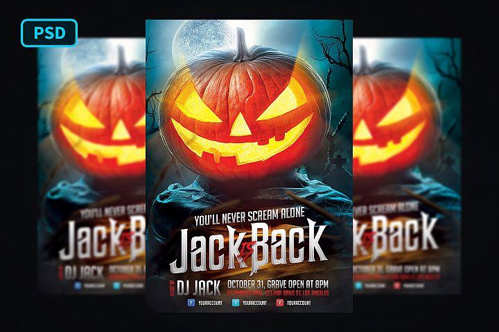 Halloween Poster Jack O Lantern
