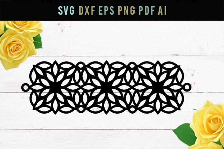 Bracelet, SVG bracelet, DXF file, floral, geometric,cut file