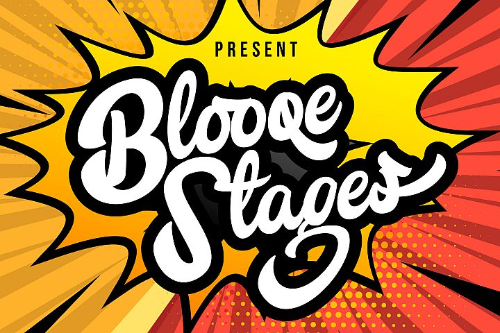Blooqe Stages | Bold Script Font