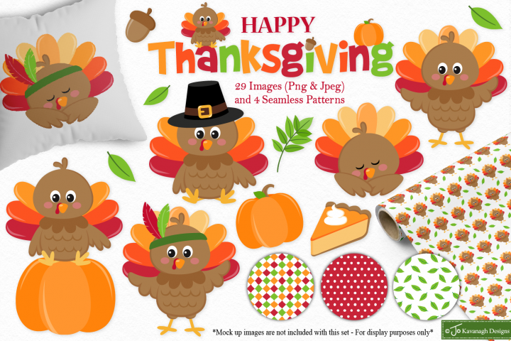 Thanksgiving clipart bundle -C41