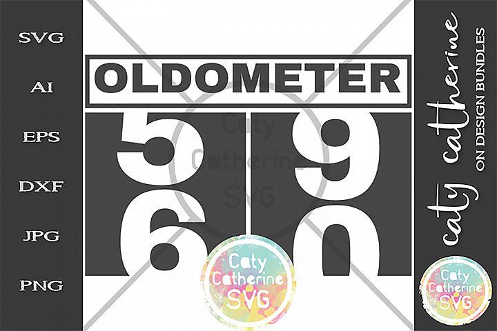 60 Sixty Birthday Oldometer SVG Cut File