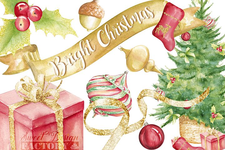 Traditional christmas clipart.