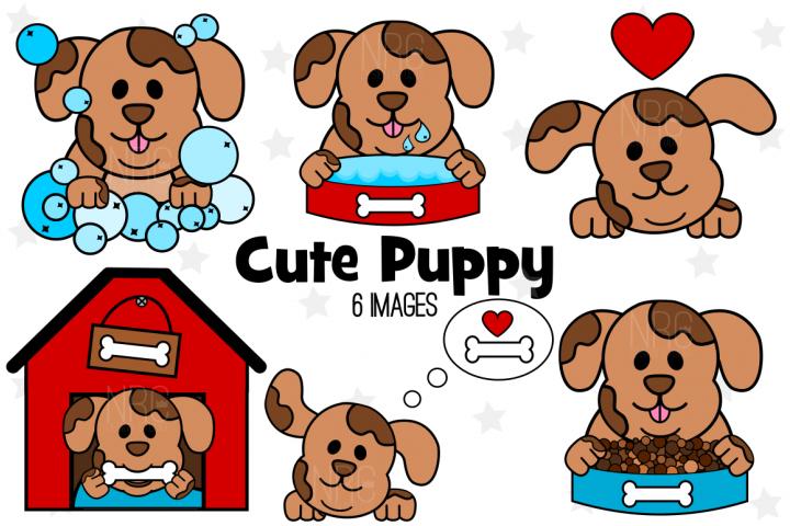 Puppy Dog Graphics, Illustrations, Clipart