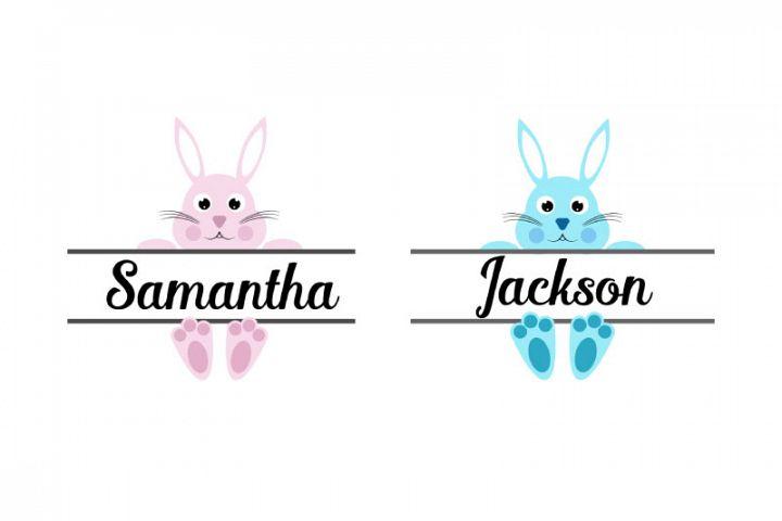 Easter Bunny Svg, Easter Monogram Svg ,Svg Dxf Png Jpg Eps v