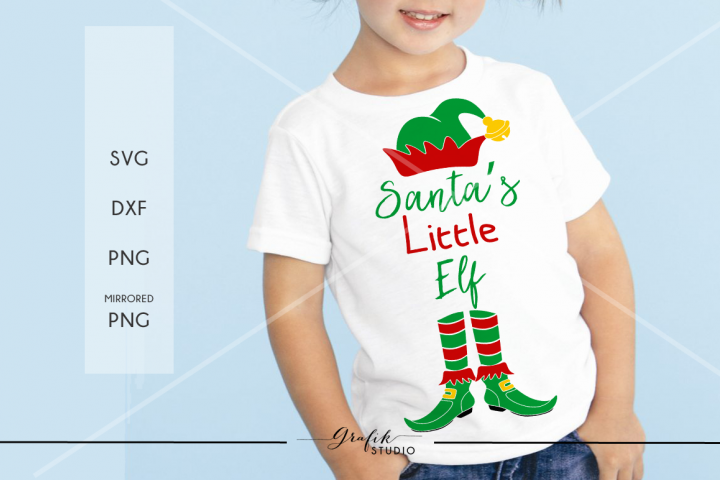 Santas little elf Christmas SVG