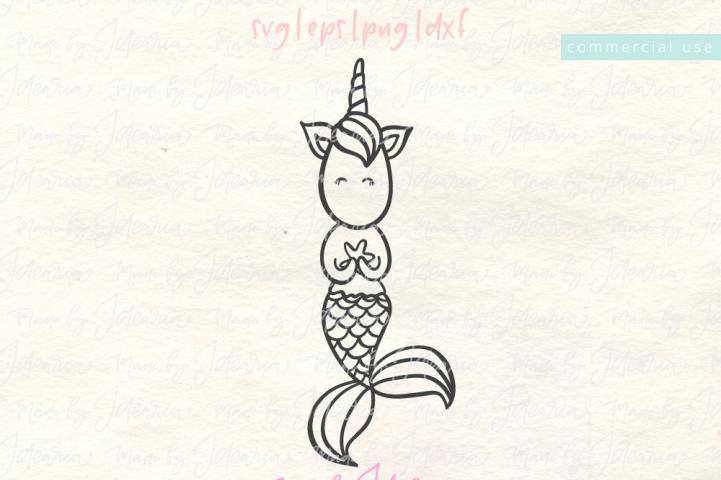 Mermaid Unicorn Svg