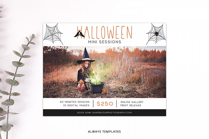 Halloween Photography Mini Session Template PM020
