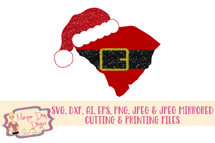 South Carolina Santa SVG, DXF, AI, EPS, PNG, JPEG