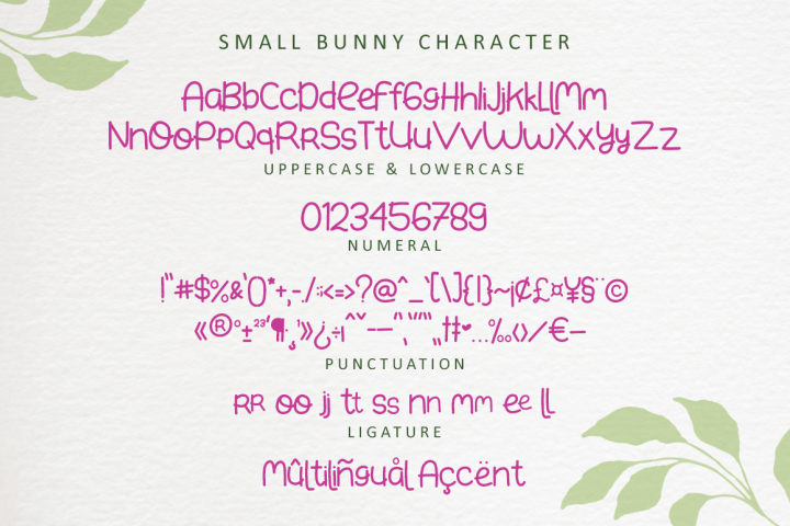 Small Bunny - Display Font For Valentine & Easter Season example image 7