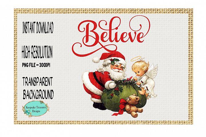 Believe Vintage Santa