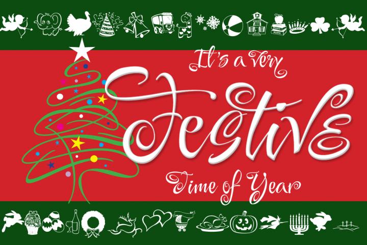 Festive 14 Font Package