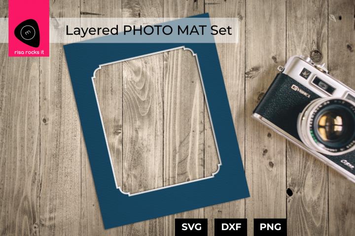 Layered Photo Mat Set SVG Design