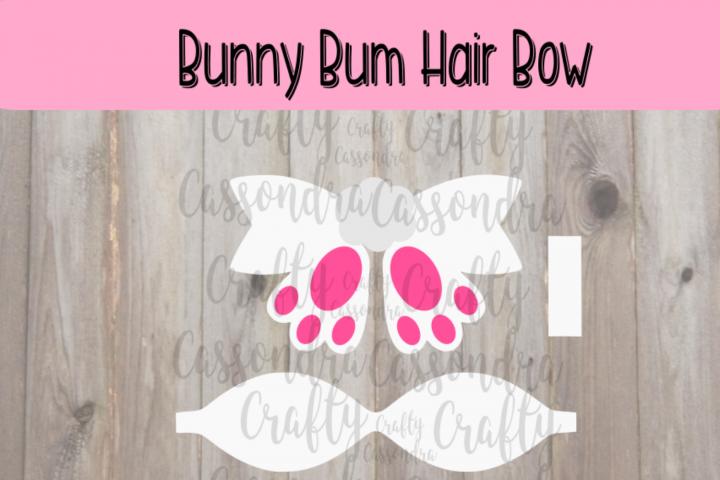 Bunny bum hair bow