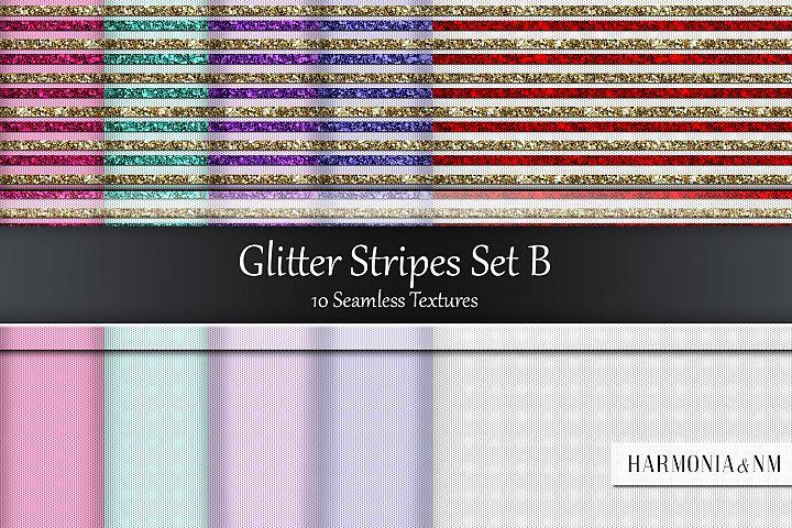 Glitter StripesSet B 10 Seamless Textures