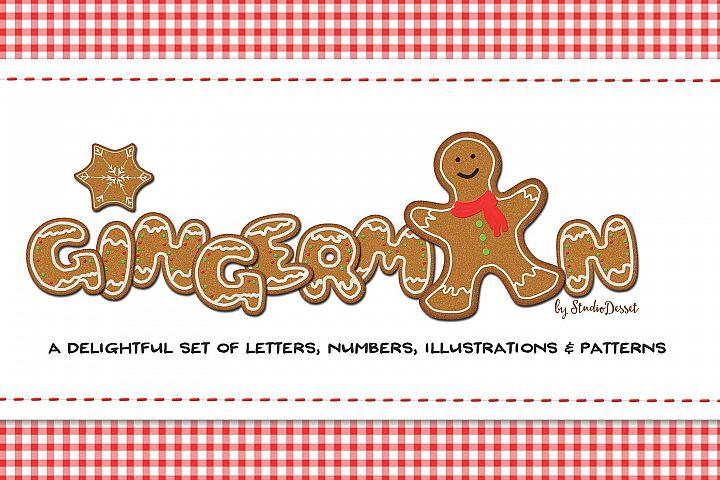 Gingerman Design Bundle - Letters, Numbers, Illustrations