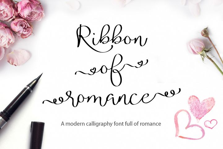 Valentine's Font Bundle with 6 Free Procreate Brushes example image 10