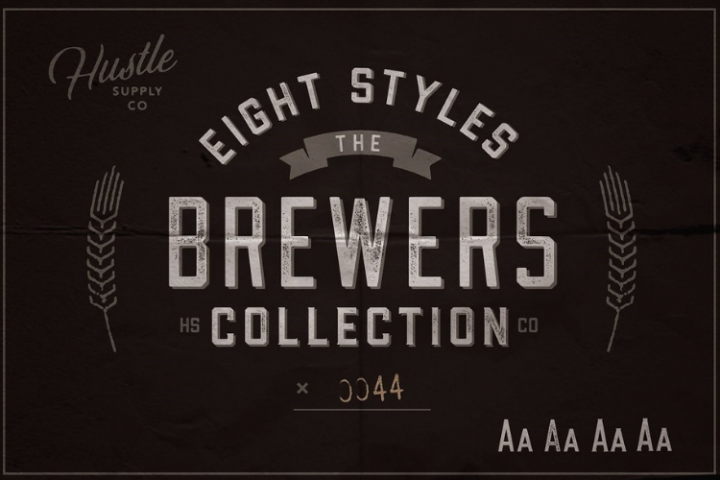 The Brewers Font Collection 8 Fonts
