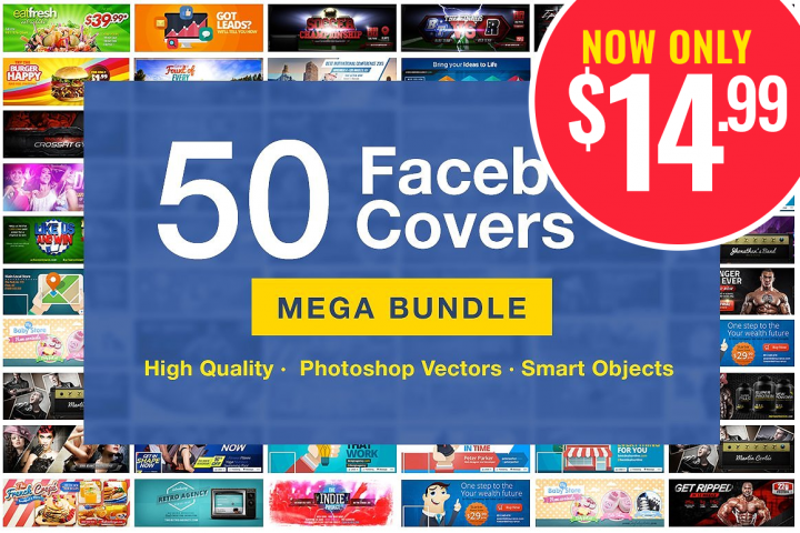50 Facebook Covers Bundle