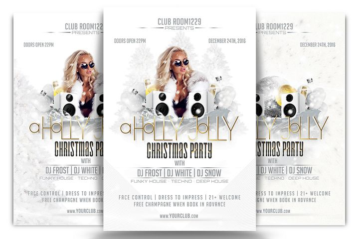 A Holly Jolly Christmas Flyer Template