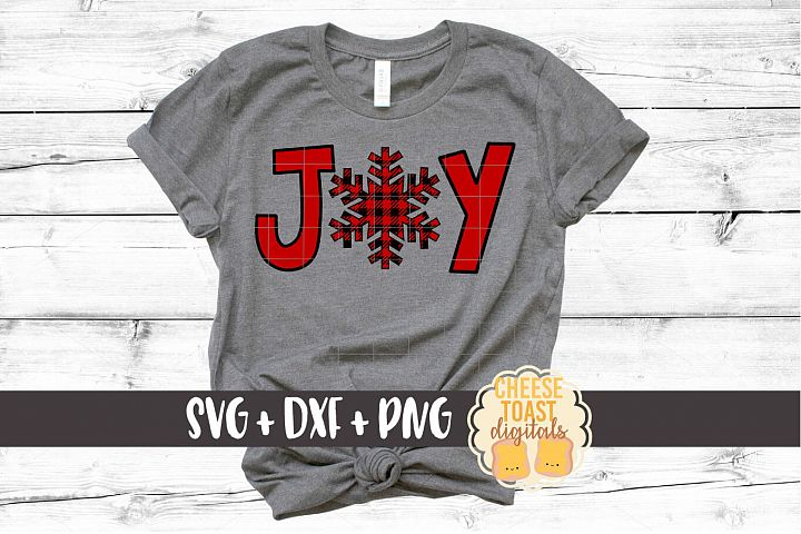Joy - Christmas SVG Files - Buffalo Plaid Snowflake