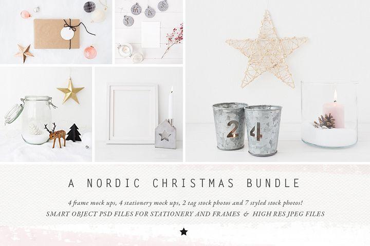 The Nordic Christmas mockup BUNDLE