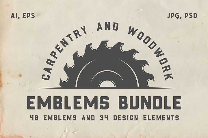 Vintage Carpentry Emblems part 2