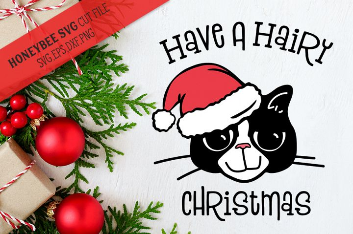 Have a Hairy Christmas SVG Cut File