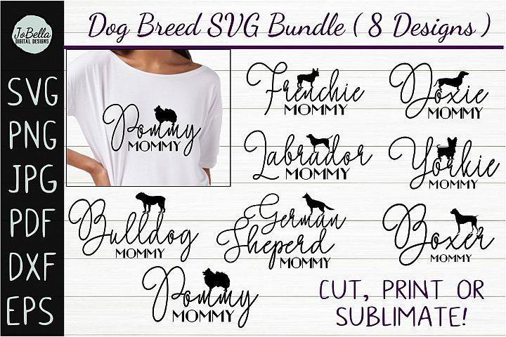 Dog SVG Bundle, Sublimation PNGs & Printables