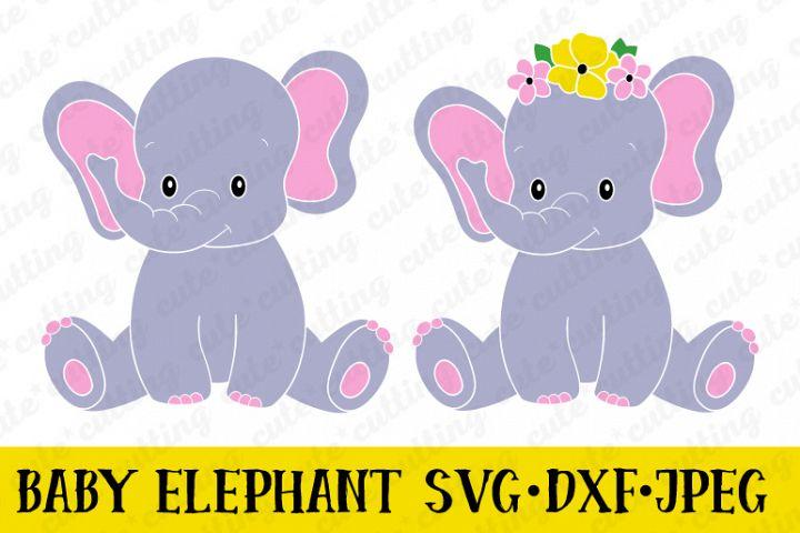 Elephant svg, dxf, jpeg