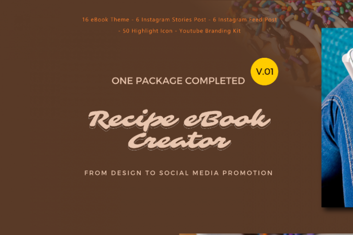 Recipe eBook Creator with Instagram and Youtube Kit
