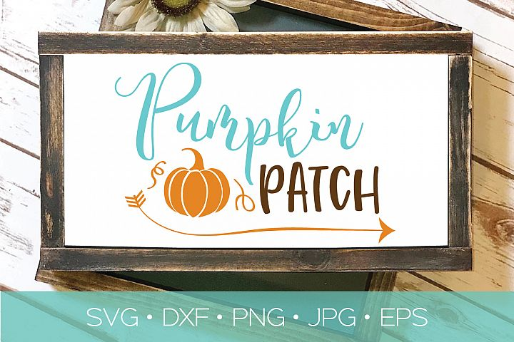 Pumpkins Patch SVG | Fall Thanksgiving Halloween Cut File