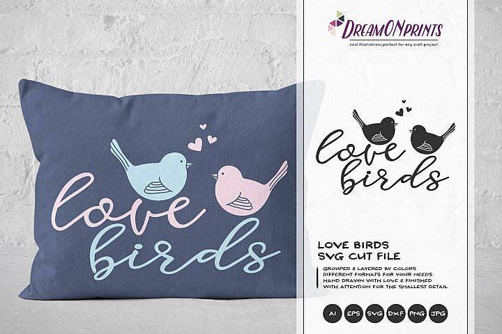 Love Birds SVG Cut File - Valentines Days SVG