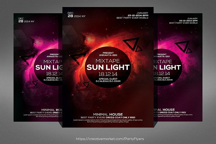 Minimal Sunlight House Flyer