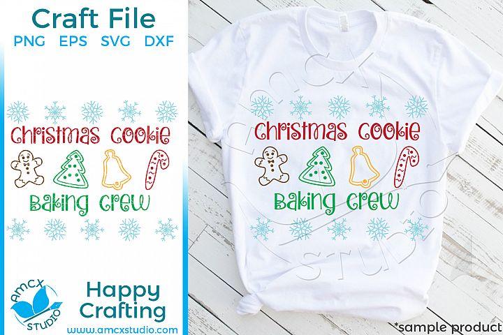 Christmas Cookie Baking Crew Christmas SVG