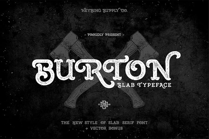 Burton Slab Typeface & Bonus