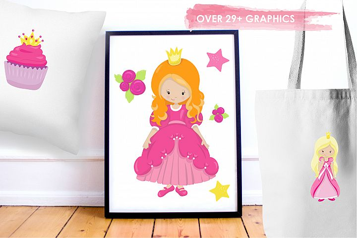Fairytale Princess  graphics and illustrations - Free Design of The Week Design 4
