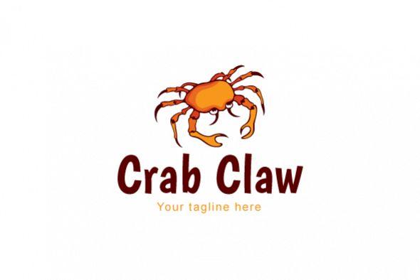 Crab Claw Sea Creature Stock Logo Template