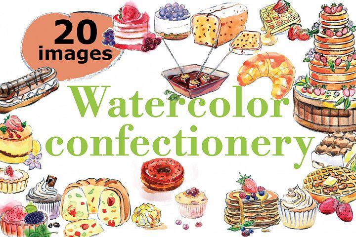 Watercolor confectionery